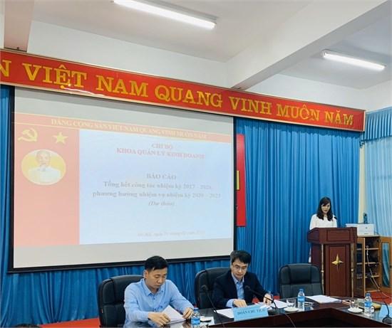 Đại hội Chi bộ Khoa Quản lý kinh doanh nhiệm kỳ 2020-2023