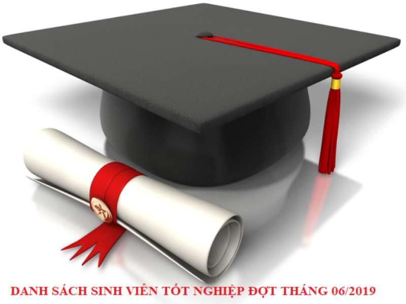 Quyết định công nhận tốt nghiệp cho sinh viên cao đẳng, đại học và liên thông lên trình độ đại học, đợt tháng 6 năm 2019