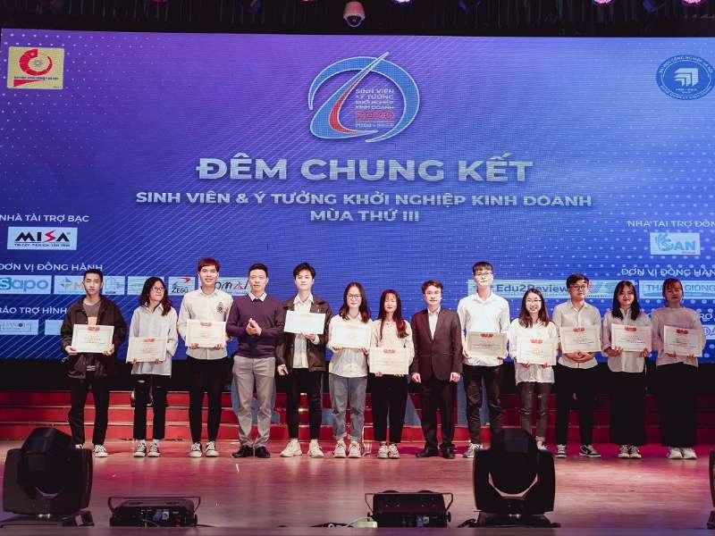 """Đêm chung kết cuộc thi """"Sinh viên & ý tưởng khơỉ nghiệp kinh doanh"""" mùa 3 - năm 2020"""
